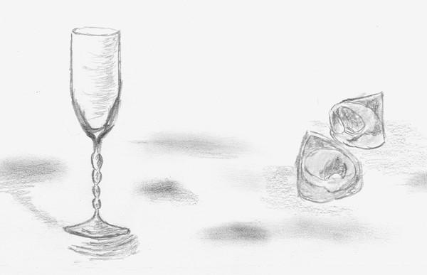 Il bicchiere di cristallo